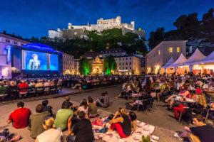 Abendstimmung bei den Siemens Festspielnächten am Kapitelplatz. © Tourismus Salzburg GmbH / G. Breitegger