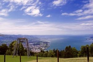 Blick auf den Bodensee und Bregenz