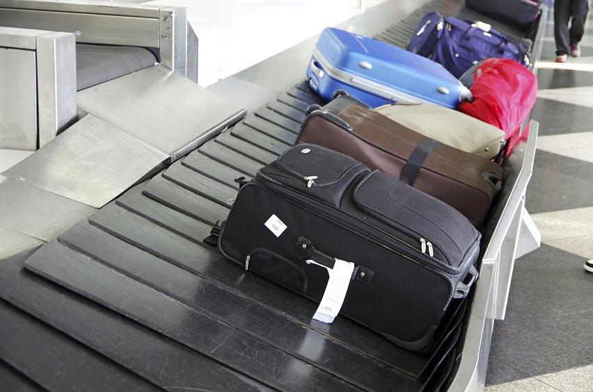 Gepäck auf einem Gepäckband