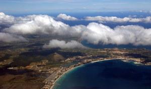 Blick von oben auf Mallorca