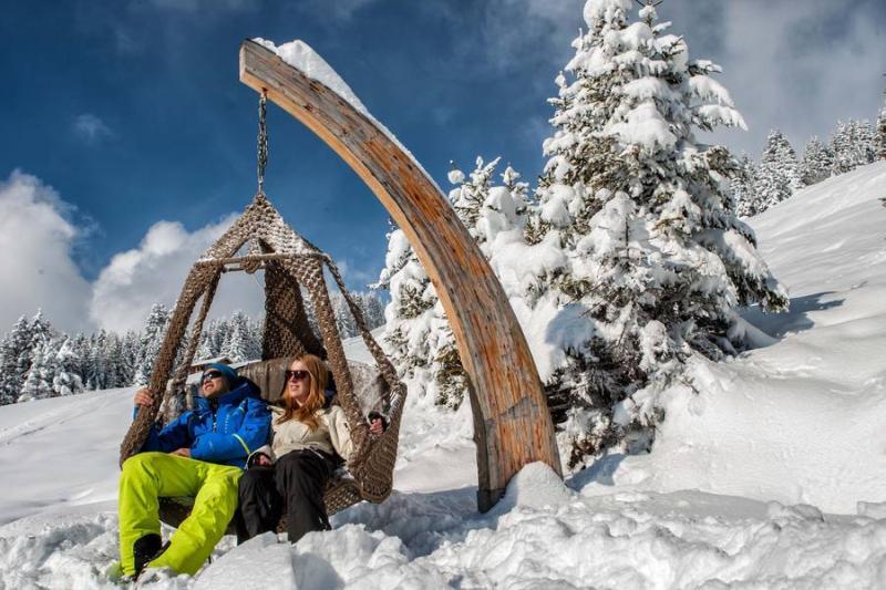 Skispaß in der Frühlingssonne