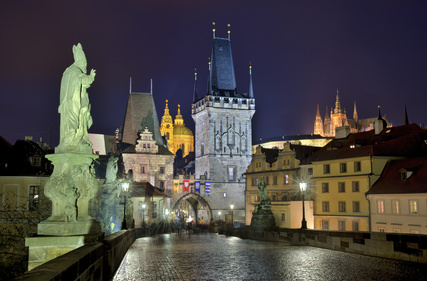 Prag auf der Karlsbrücke